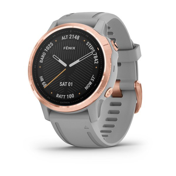 Garmin Fenix 6s Sapphire Rose Gold-tone With Powder Gray Band (010-02159-22)