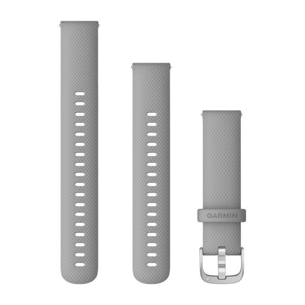 Garmin Quick Release Bands (18 Mm) Powder Gray With Silver Hardware (010-12932-00)