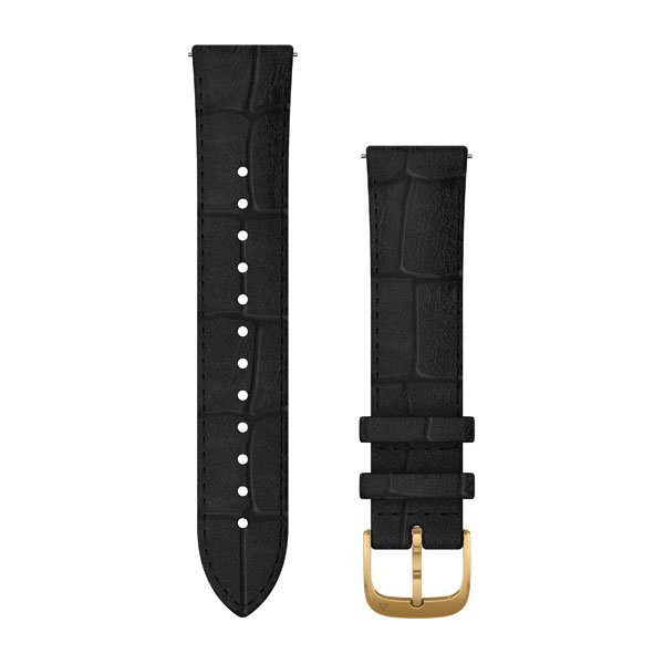 Garmin Quick Release Bands (20 Mm) Black Embossed Italian Leather With 2 (010-12924-22)