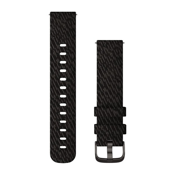 Garmin Quick Release Bands (20 Mm) Black Pepper Woven Nylon With Slate H (010-12924-13)
