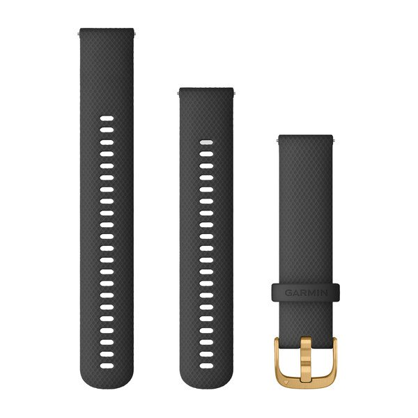 Garmin Quick Release Bands (20 Mm) Black With Gold Hardware (010-12932-13)