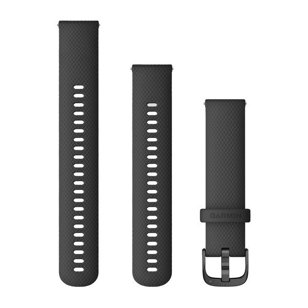 Garmin Quick Release Bands (20 Mm) Black With Slate Hardware (010-12932-11)