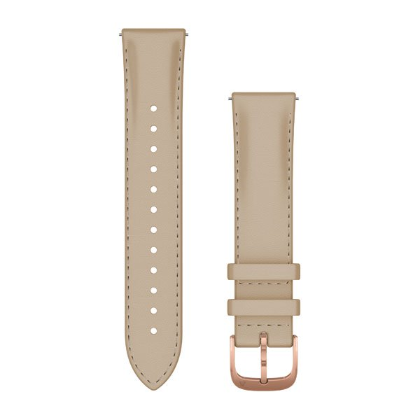 Garmin Quick Release Bands (20 Mm) Light Sand Italian Leather With 18k R (010-12924-21)