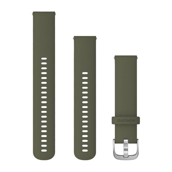 Garmin Quick Release Bands (20 Mm) Moss With Silver Hardware (010-12924-11)