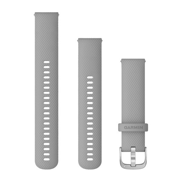 Garmin Quick Release Bands (20 Mm) Powder Gray With Silver Hardware (010-12924-00)