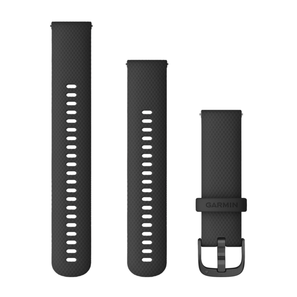 Garmin Quick Release Bands (22 Mm) Black With Slate Hardware (010-12932-21)