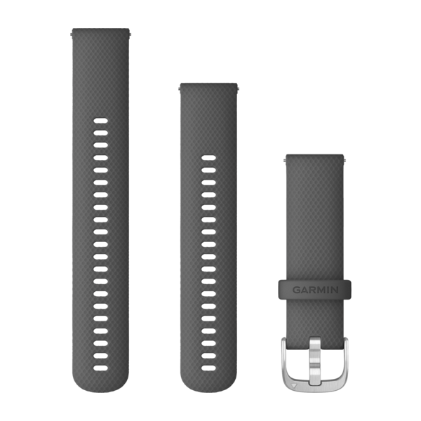 Garmin Quick Release Bands (22 Mm) Shadow Gray With Silver Hardware (010-12932-20)