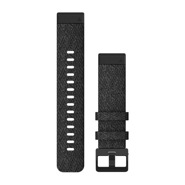 Garmin Quickfit 20 Watch Bands Heathered Black Nylon With Black Hardware (010-12875-00)