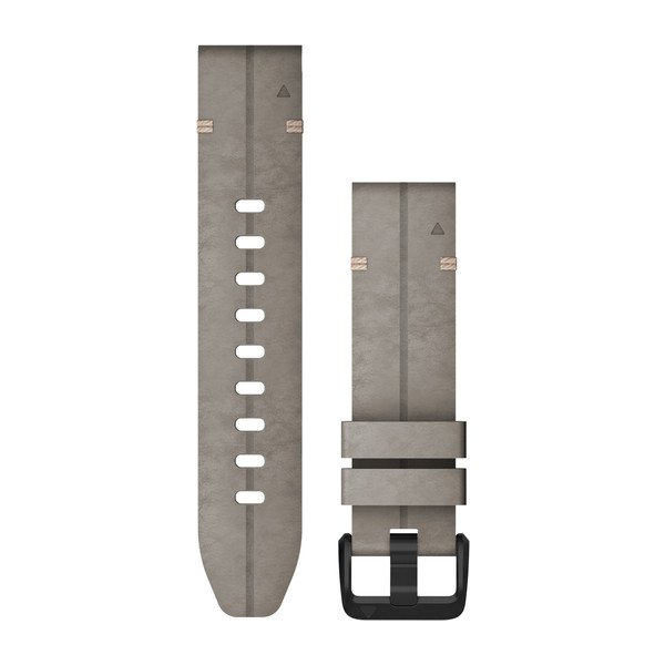 Garmin Quickfit 20 Watch Bands Shale Gray Suede Leather (010-12876-00)