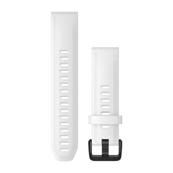 Garmin Quickfit 20 Watch Bands White Silicone With Black Hardware (010-12865-00)