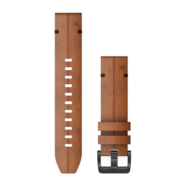 Garmin Quickfit 22 Watch Bands Chestnut Leather (010-12863-05)