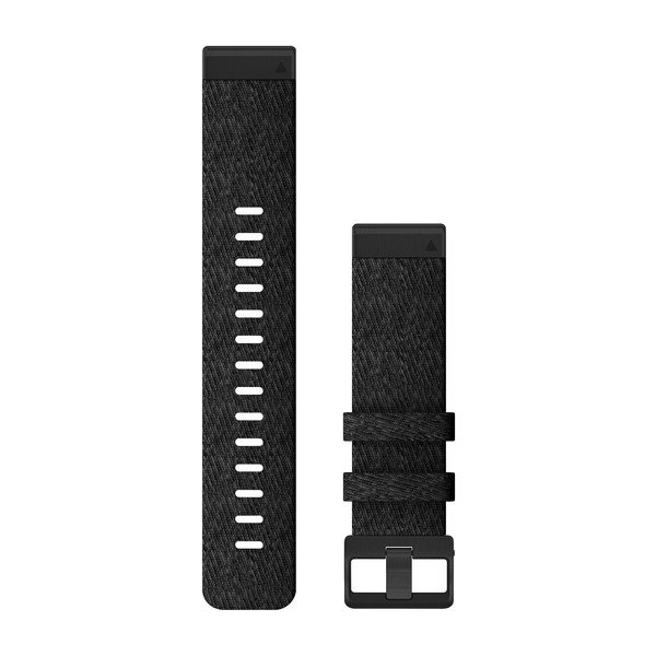 Garmin Quickfit 22 Watch Bands Heathered Black Nylon (010-12863-07)