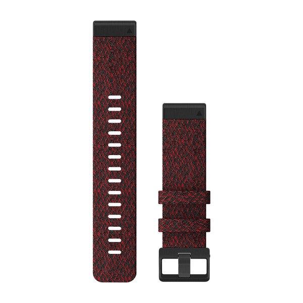 Garmin Quickfit 22 Watch Bands Heathered Red Nylon (010-12863-06)