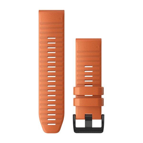 Garmin Quickfit 26 Watch Bands Ember Orange Silicone (010-12864-01)
