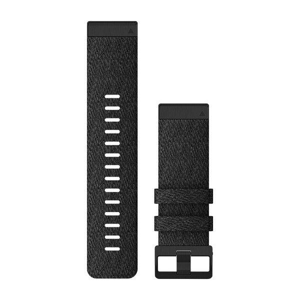 Garmin Quickfit 26 Watch Bands Heathered Black Nylon (010-12864-07)