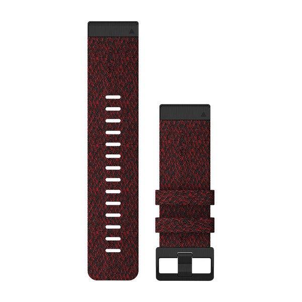 Garmin Quickfit 26 Watch Bands Heathered Red Nylon (010-12864-06)