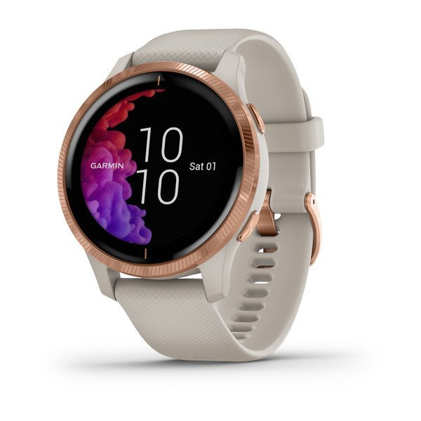 Garmin Venu Light Sand With Rose-gold Hardware (010-02173-22)