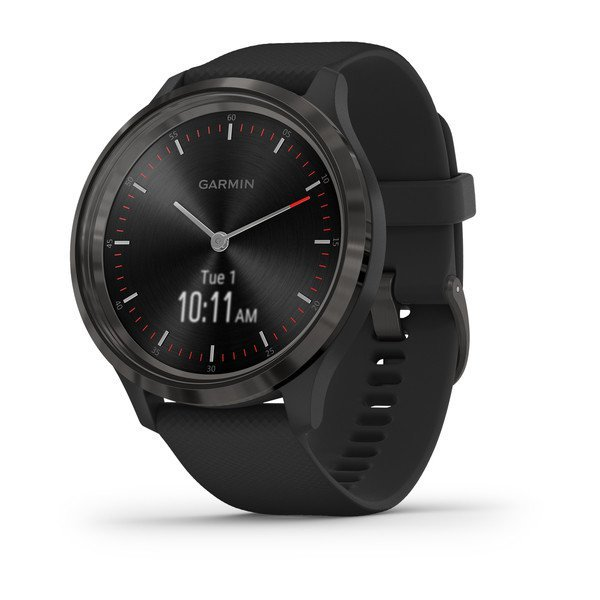 Garmin Vivomove 3 Slate Stainless Steel Bezel With Black Case And Silico (010-02239-01)