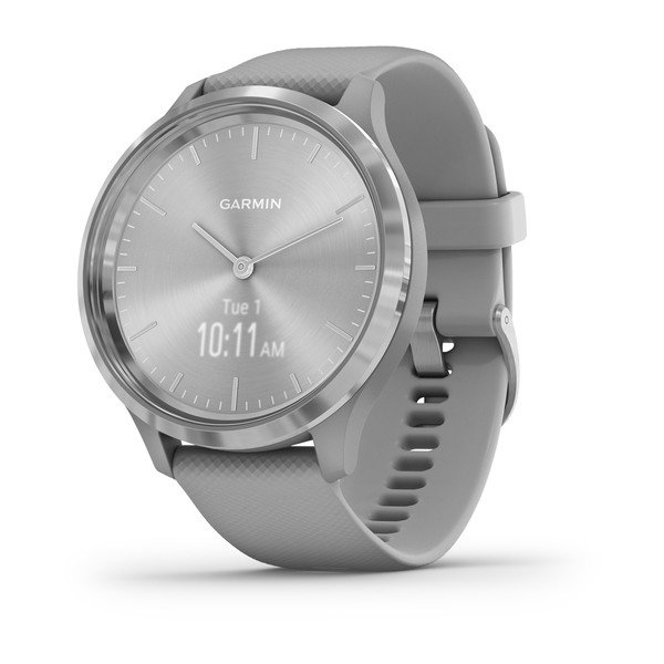 Garmin Vivomove 3 Worldwide Silver Stainless Steel Bezel With Powder Gra (010-02239-00)