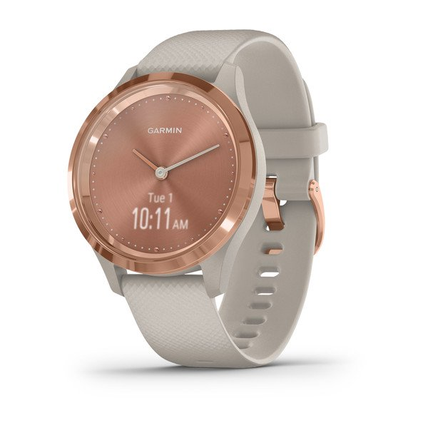Garmin Vivomove 3s Rose Gold Stainless Steel Bezel With Light Sand Case  (010-02238-02)