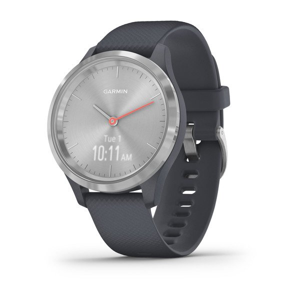 Garmin Vivomove 3s Silver Stainless Steel Bezel With Granite Blue Case A (010-02238-00)