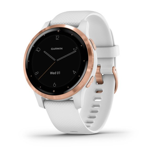 Garmin Vivoactive 4s White With Rose-gold Hardware (010-02172-22)
