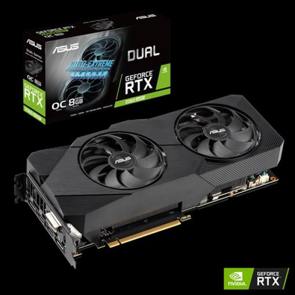 Asus Nvidia Super Dual Geforce Rtx 2060s Evo Oc Edition 8gb Gddr6 2 Po (DUAL-RTX2060S-O8G-EVO)