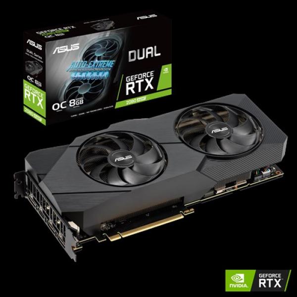 Asus Nvidia Super Dual Geforce RTX 2080 Super Evo OC Edition 8GB GDDR6 (DUAL-RTX2080S-O8G-EVO)