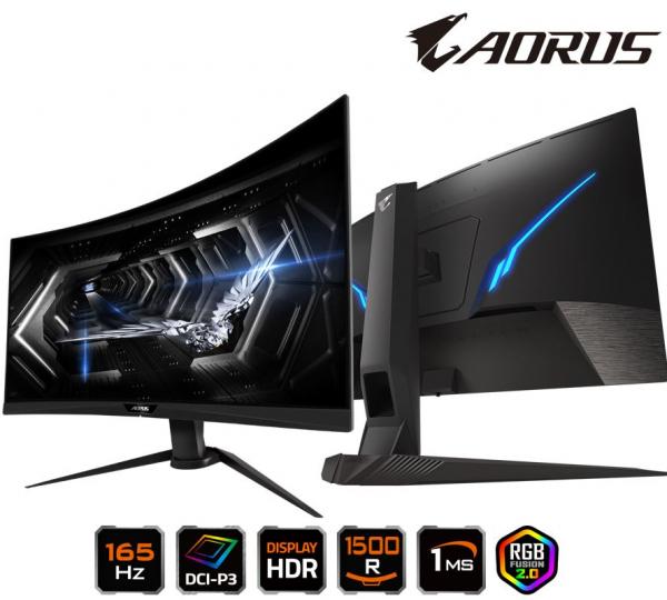 Gigabyte Aorus -ap 27' Curve Tactical Gaming Monitor Fhd 165hz 1ms Amd Fre (CV27Q)
