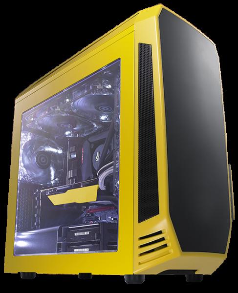 Bitfenix Bitfenix Aegis Matx Case Black With Yellow. Supports Std Ps2/atx  (BFC-AEG-300-YKWN1-RP)