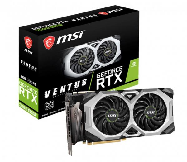 Msi Nvidia Geforce Rtx 2080 Super Ventus Xs Oc 8gb Gddr6 8k 7680x4320 (RTX 2080 SUPER VENTUS XS OC)
