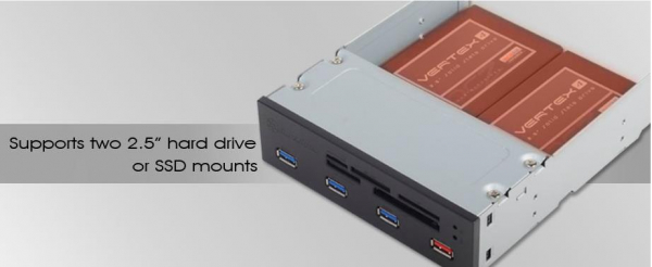 Silverstone 5.25 Card Reader With 4x Usb3.0 Port (ls) (G560FP56B500020)