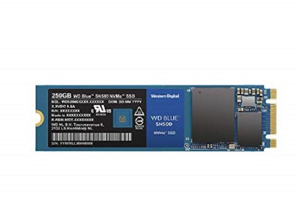 Western Digital Blue SN500 250GB Nvme M.2 2280 SSD Drives (WDS250G1B0C)