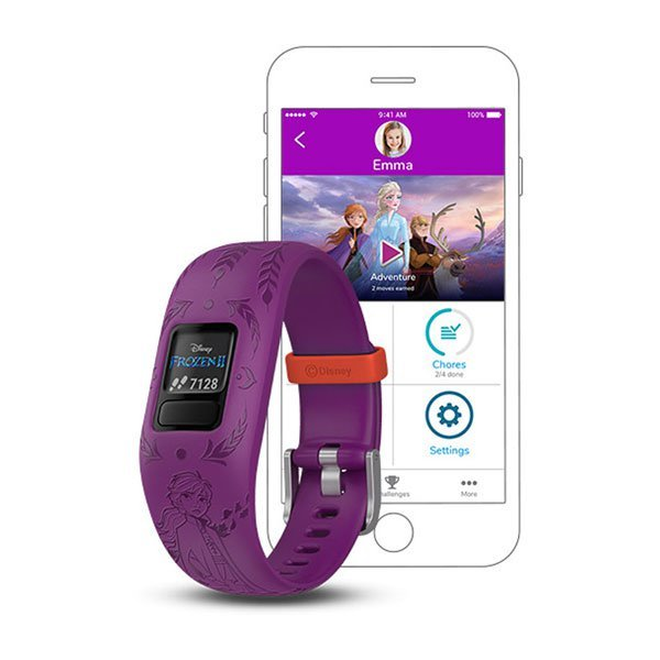 Garmin Vivofit Jr 2 Disney Frozen 2 Anna Kids Fitness Tracker GPS Devices (010-01909-39)