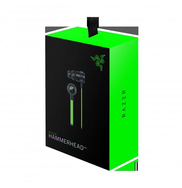 Razer Hammerhead V2 Analog Gaming And Music In-ear Headphones (RZ12-01730100)