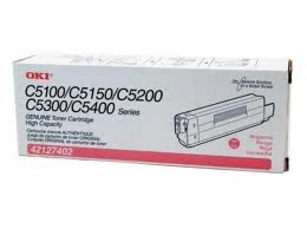 OKI Magenta Toner C5100/52/5300/5400 42127410