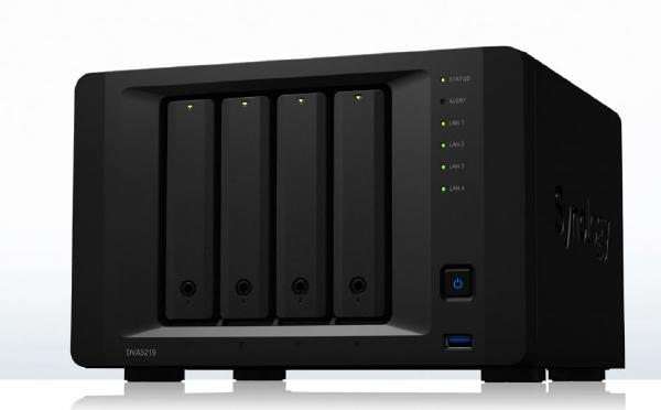Synology NVR - 4 Bay NVR With An Intel Atom C3538 Nvidia Geforce Network Storage (DVA3219)