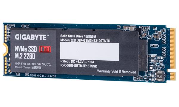 Gigabyte M.2 Pcie Nvme Ssd 1tb V2 2550/2100 Mb/s 295k/430k Iops 1600tbw 22 GP-GSM2NE3100TNTD