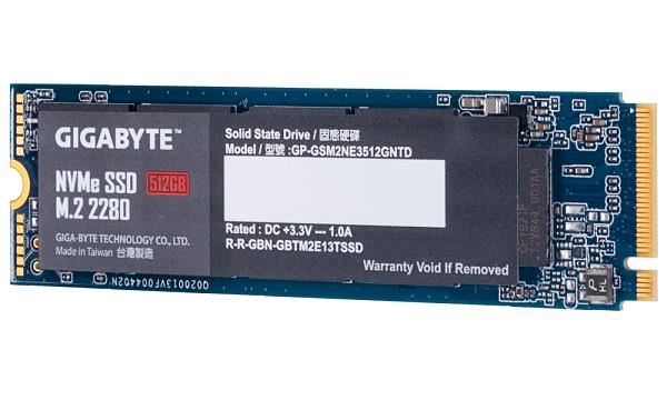 Gigabyte M.2 Pcie Nvme Ssd 512gb V2 1700/1550 Mb/s 270k/340k Iops 2280 80m GP-GSM2NE3512GNTD