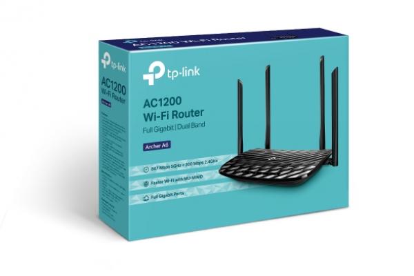 TP-link Ac1200 Wireless Mu-mimo Gigabit Router Archer A6