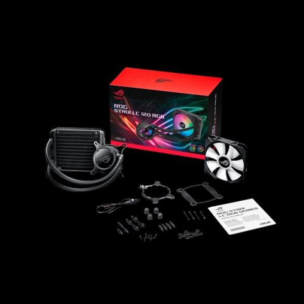 Asus Rog Strix Lc 120 Rgb All-in-one Liquid Cpu Cooleraura Sync Single ROG STRIX LC 120 RGB