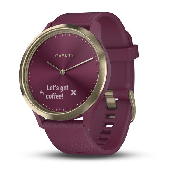 Garmin Vivomove Hr Sport Berry smartwatch Light Gold S/M 010-01850-17
