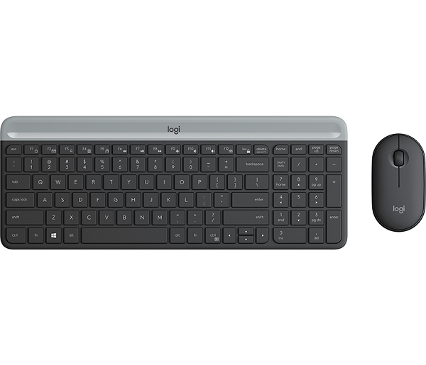 Logitech MK470 Wireless Keyboard Mouse Combo Black Keyboard (920-009182)