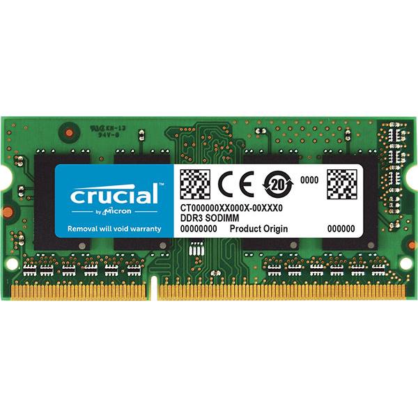 Crucial 4gb 1x4gb Ddr3 Sodimm 1600mhz 1.35/1.5v Dual Voltage Si CT51264BF160B