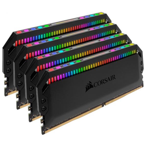Corsair Dominator Platinum RGB 64GB 4x16GB DDR4 Desktop Ram3000mhz Cl15 Dimm Unbuf (CMT64GX4M4C3000C15)