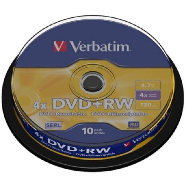 VERBATIM Dvd+rw 4.7gb 10pk Spindle 4x 43488