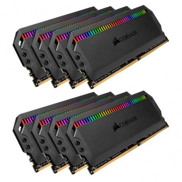 Corsair Dominator Platinum RGB 64GB 8x8GB DDR4 3600mhz Cl18 Dimm UNBUFF DDR4 Desktop Ram (CMT64GX4M8X3600C18)