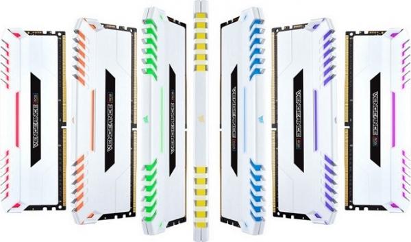 Corsair Vengeance RGB 16GB 2x8GB DDR4 3200Mhz C16 Desktop Gaming Memory DDR4 Desktop Ram (CMR16GX4M2C3200C16W)