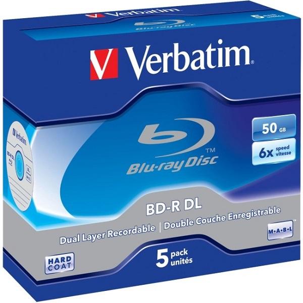 VERBATIM Bd-r Dl 50 Gb 5pack Jc 43748