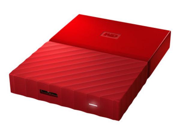 Western Digital Wd Wdbyft0040bbk My Passport 4tb Usb3.0 Portable Hard Drive- Red- (WDBYFT0040BRD)